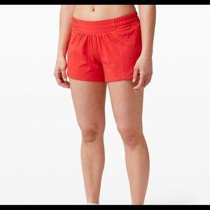 """Lululemon red 4"""" shorts"""